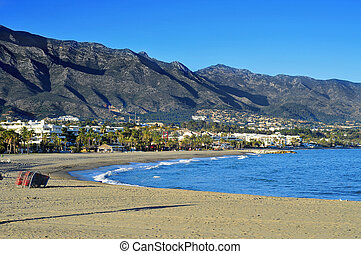 Rio Verde Beach in Marbella, Spain - view of Rio Verde Beach...