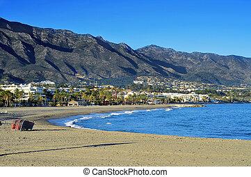 Rio Verde Beach in Marbella, Spain - view of Rio Verde Beach...