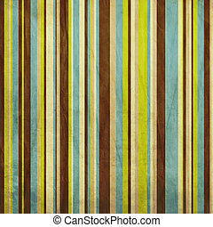 Vintage beige, brown, blue and green sgrunge colored striped...