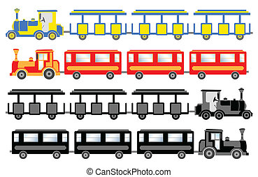train for sightseeing - 	train for sightseeing - vector