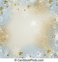 Multicolored backdrop for greetings or invitations with  snowflakes and stars