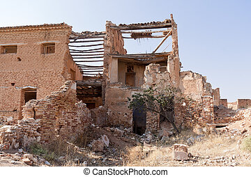 Destroyed building - An old building destroyed during the...