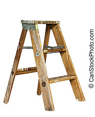 stepladder - small stepladder isolated with clipping path at...