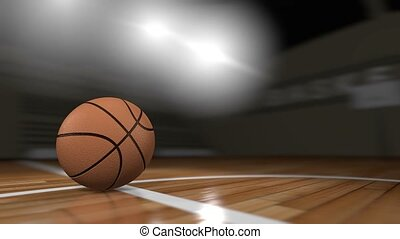 Basketball - 3d animation basketball, gym, computer...