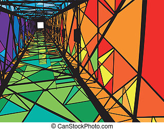 Abstract Electrical tower illustration
