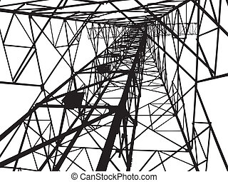 Abstract Electrical tower