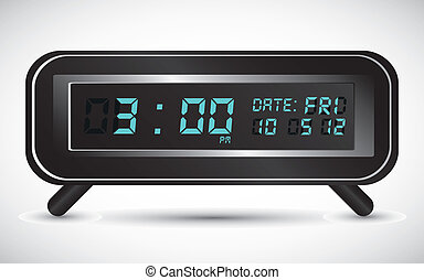 llustration of digital clock - illustration of digital...