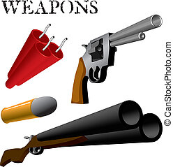 Weapons - Various Weapons and Ammunition in perspective