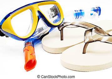 mask and tube for diving