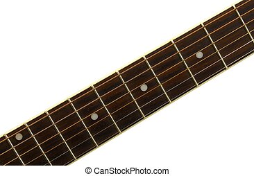 fretboard - An isolated rosewood guitar neck fretboard