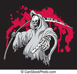 Grim Reaper - Death Grim Reaper Pointing and holding a...