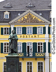 Beethoven Statue in Bonn, Germany. - Beethoven statue in...