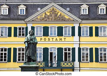貝多芬, 雕像, bonn, 德國