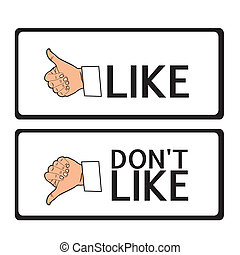 thumb up and down