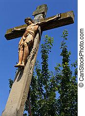 Crucifix Monument in Linz - A Crucifix Monument in the...