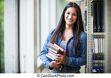 Hispanic college student - A portrait of an Hispanic college...