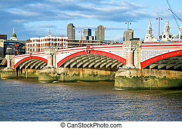 Blackfriars bridge - Photo of Blackfriars bridge and Thames...