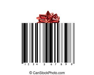 Barcode - A barcode isolated against a white background