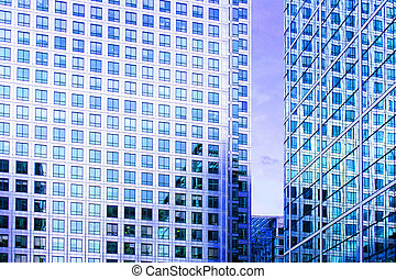 Facades horizontal - Business buildings with lot of windows...