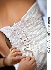 Wedding dress - Bride getting a wedding dress