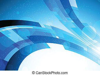 Bright blue background - Abstract bright background in blue...