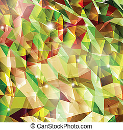Abstract background with combination of triangle. Vector