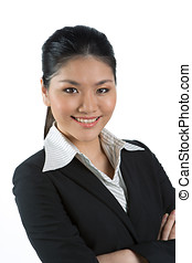 Asian business woman - Portrait of a happy Asian business...