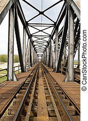 Railway bridge in Eastern Europe