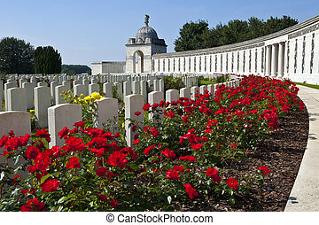 Tyne Cot Cemetery in Ypres, Belgium. Tyne Cot Commonwealth...