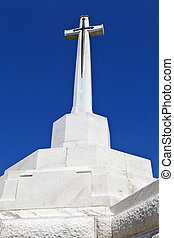 Cross of Sacrifice at Tyne Cot Cemetery in Ypres