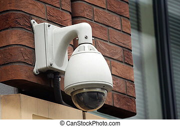 CCTV, security camera, watching every movement in modern...