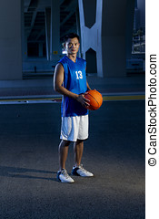 Basketball Player - Asian male Basket ball Player at night