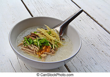 Rice soup morning thailand