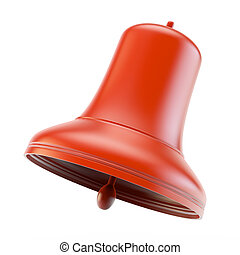 Red bell - Red christmas bell on white background