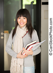Asian college student - A portrait of a Chinese college...