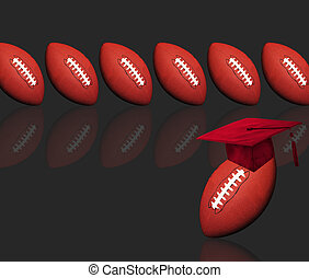Football and Education. - Footballs ready for school.
