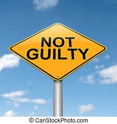 Not guilty concept.