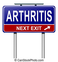 Arthritis concept - Illustration depicting a roadsign with...
