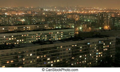 At night - architecture, building, flat, apartments,...