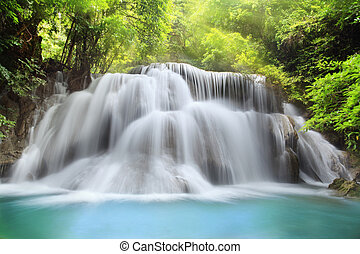 Huai Mae Kamin Waterfall - Level three of Huai Mae Kamin...