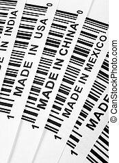trade war - barcode, trade war, business concept