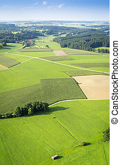 flight over Bavaria - An image of a flight over the bavarian...