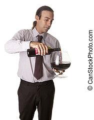 serving wine in big cup