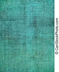 Turquoise Screen Pattern - A turquoise, vintage cloth book...