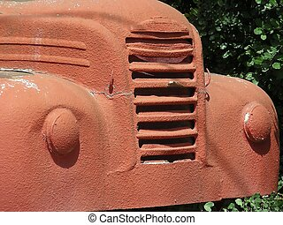 Old Truck - Great old truck, painted a fine reddy brown...