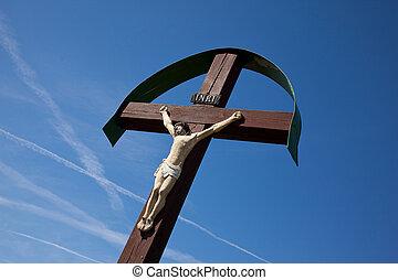 Jesus kristus - Jesus Cristus on wood cross