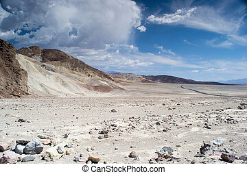 death valley national park,california,USA-august 3,2012:view...