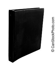 black binder - spiral black binder isolated on white