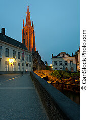 Our Lady Church at night - Night view on Our Lady Church in...