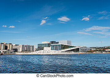 opera oslo - OSLO - AUGUST 11: Oslo Opera House on August...